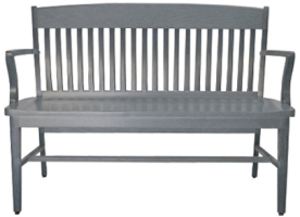School House Waiting Bench Grey