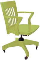 School House Swivel Arm Chair