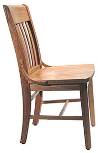 Oak Schoolhouse Chair Rear View Oak Schoolhouse Chair Side View ...  sc 1 st  Kurt Petersen Furniture & School House Chairs - Our Schoolhouse chairs are made of OAK wood ...
