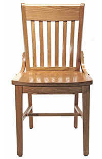 Oak Schoolhouse Chair Front View