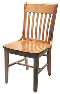 Beau ... Oak Schoolhouse Chair Front Side View