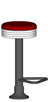 Budget Chrome Seat Bolt Down Soda Fountain Stool Black Column With Footrest