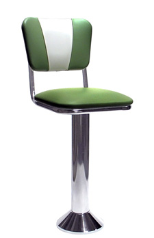 Diner Chair Style Soda Fountain Counter Stool With 1 Inch Thick Seat ...