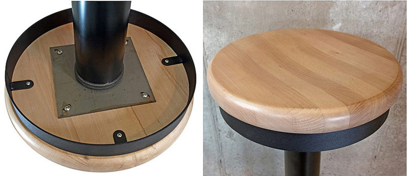 Fantastic Wood Seat Bolt Down Soda Fountain Counter Stool Alphanode Cool Chair Designs And Ideas Alphanodeonline