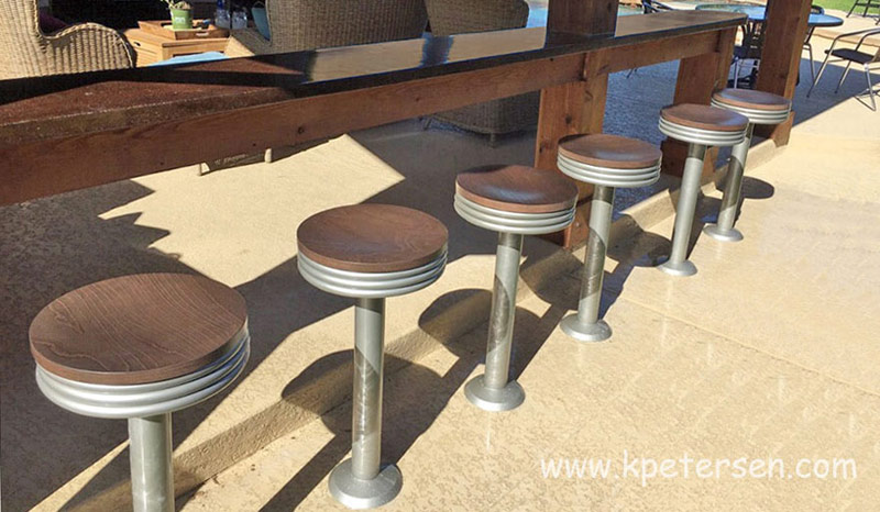 Magnificent Tubular Steel Stacked Seat Soda Fountain Counter Stool Alphanode Cool Chair Designs And Ideas Alphanodeonline