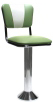 Deluxe Diner Chair Style Bolt Down Soda Fountain Stool