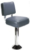 Deluxe Backrest Square Seat Bolt Down Counter Stool