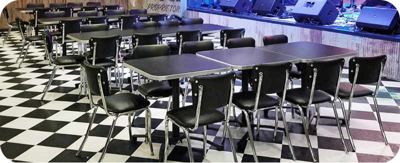 Diner Restaurant Chairs with Optional Stacking Frames