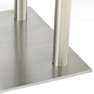 Large Square Stainless Steel Table Base Detail