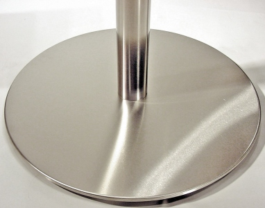 Stainless Steel Table Base With Stainless Steel Column Detail