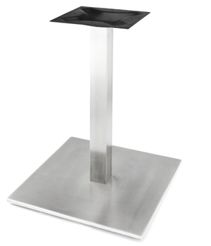 Elegant Square Stainless Steel Table Base With Stainless Steel Column