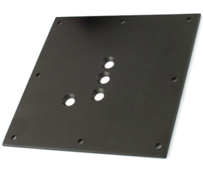 Elliptical Stainless Steel Table Leg Top Plate Detail