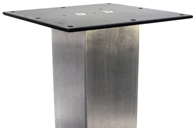 ... Stainless Steel Table Leg 3 Inch Square Top Plate Detail