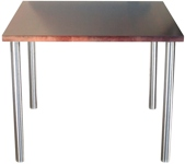 Round Stainless Steel Legs Wheelchair Accessible Table