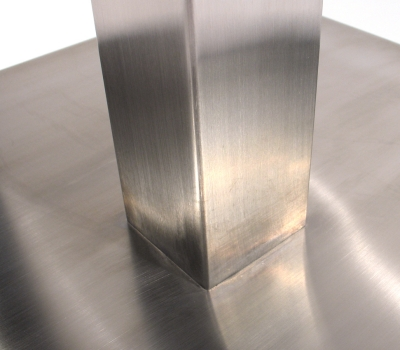 3 Inch X 3 Inch Stainless Steel Square Table Base Column
