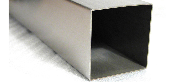 Large rectangular stainless steel table bases with square