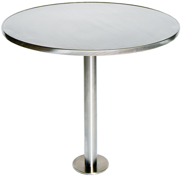 Stainless Steel Bolt Down Table Base With Example Top