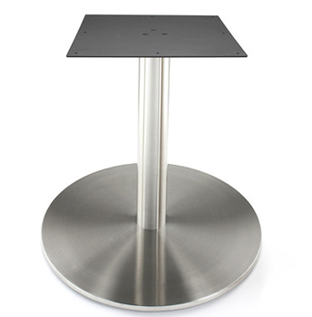 Attirant Large Stainless Steel Table Base With Stainless Steel Column ...
