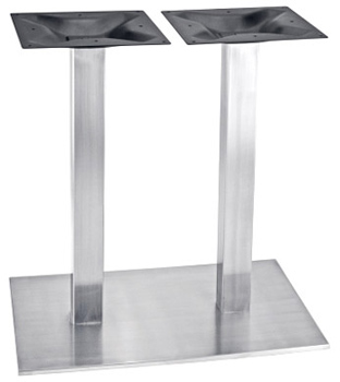 Rectangular Stainless Steel Table Base With Two Square Stainless Steel  Columns