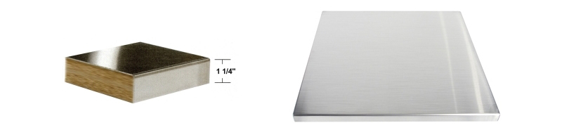 Stainless Steel Table Top Thickness Detail