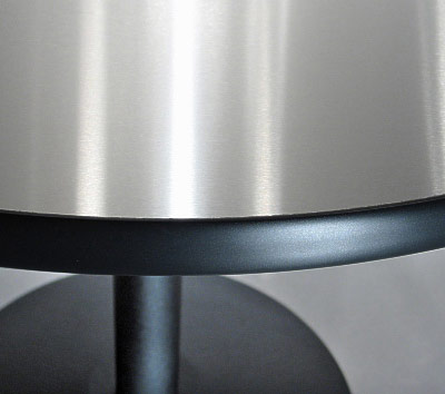 Round Vinyl Edge Stainless Steel Table Top Edge Detail