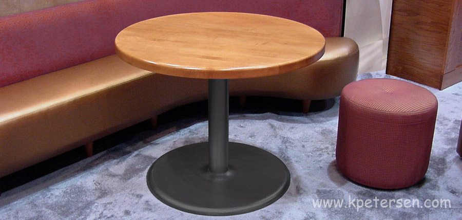 Stamped Steel Round Bottom Table Base Installation