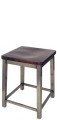 Backless Square Seat Angle Steel Activity Stool