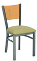 Steel Wood Back Restaurant Chair