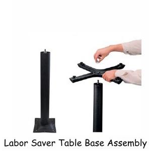 Sunbeam Radial Design Restaurant Table Base For Round Square And - Cast iron restaurant table bases