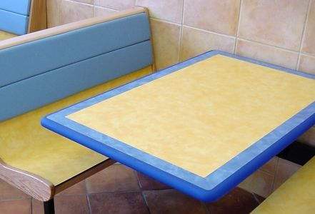 Fast Food Restaurant Table With Laminate Inlay