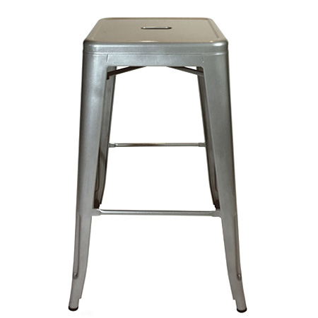 Backless Outdoor Steel Bar Stool Front
