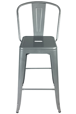 Brewtol Outdoor Steel Bar Stool Front View