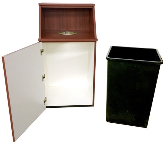 Top Drop Waste Receptacle Rigid Plastic Liner Included