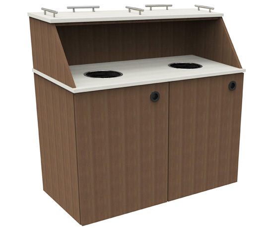 Two Tone Double Top Drop Waste Receptacle