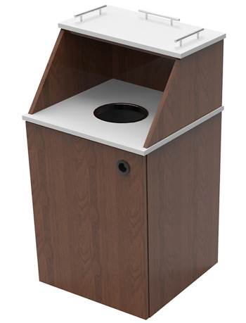 Two Tone Single Top Drop Waste Receptacle