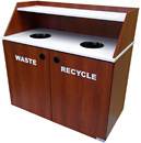 Custom Top Drop Waste Receptacle Double Unit