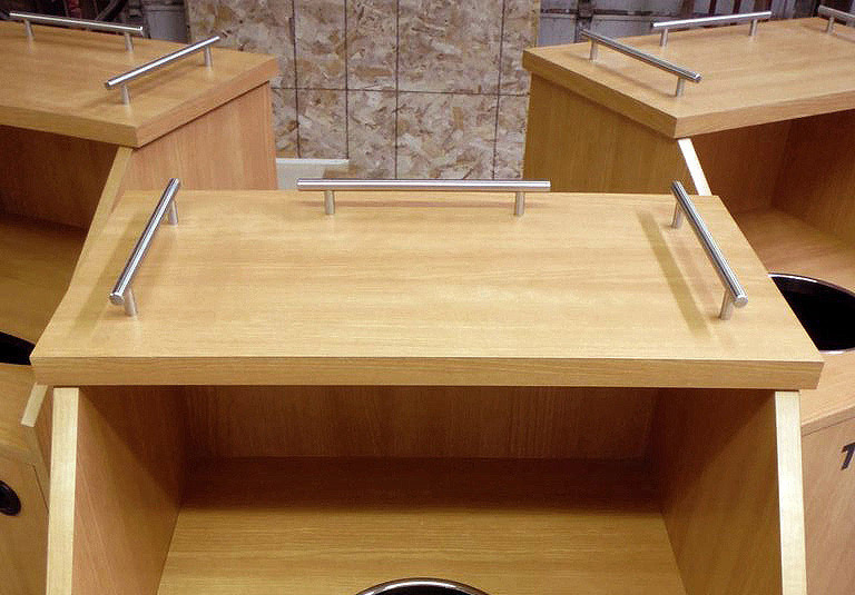 Top Drop Waste Receptacle Stainless Steel Bar Tray Return Detail