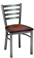 Trapezoid Steel Restaurant Chair