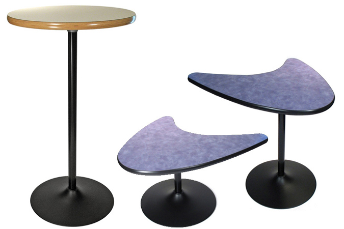 black finish trumpet table bases coffee table height dining height and