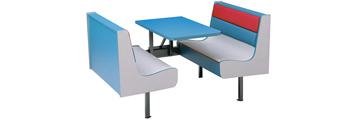 Laminated Plastic Restaurant Booths with Upholstery