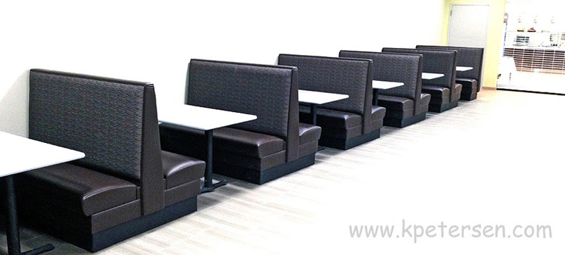 Row Of Plainback Upholstered Restaurant Booths