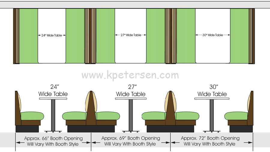 Upholstered Restaurant Booth Layouts And Typical Booth
