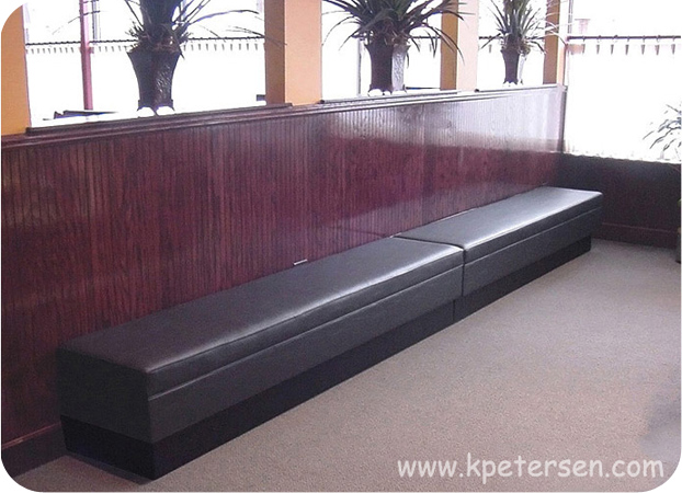Upholstered Customer Waiting Bench
