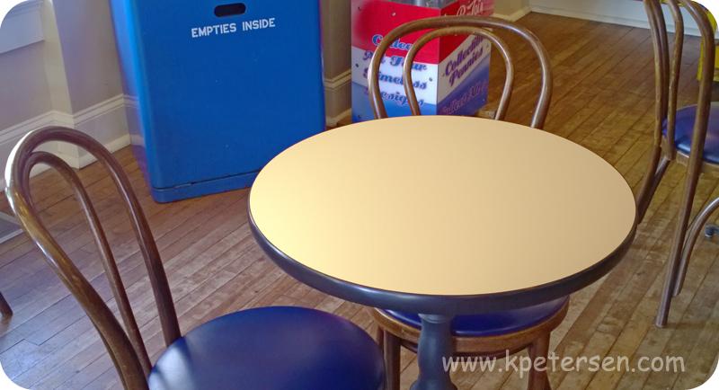 Economy Restaurant Tables Vinyl Edge