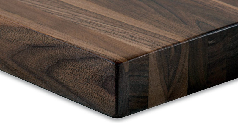 ... Solid Walnut Restaurant Table Corner Detail