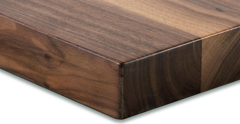 ... Solid Walnut Restaurant Table Corner Detail Overhead View ...