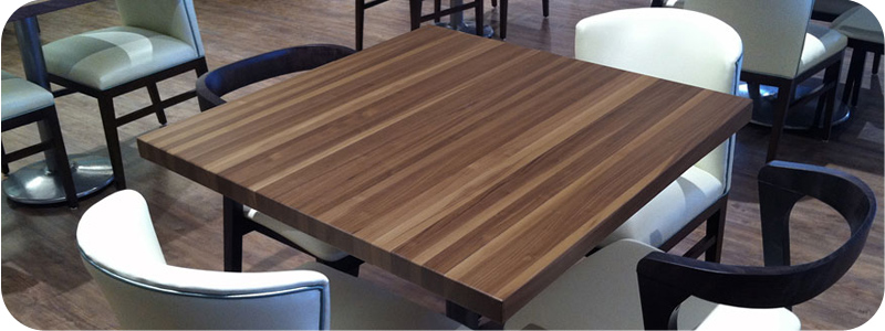 Walnut Restaurant Tables Butcher Block Style Budget Pricing - 24 x 24 restaurant table