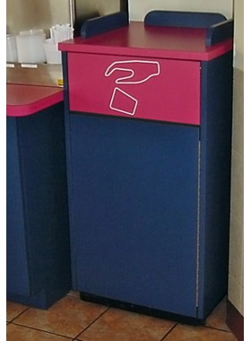 laminated plastic waste receptacles. Black Bedroom Furniture Sets. Home Design Ideas