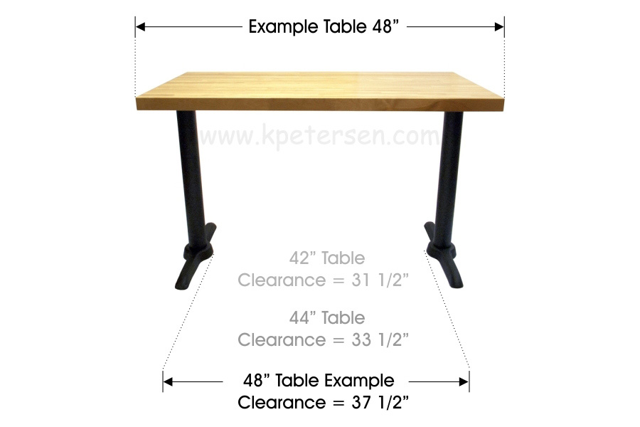 ADA End Bases For Rectangular Restaurant Tables - Ada restaurant table