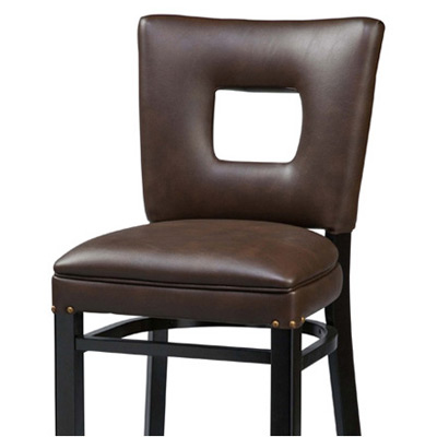 Deluxe Window Seat Wood Bar Stool Front View